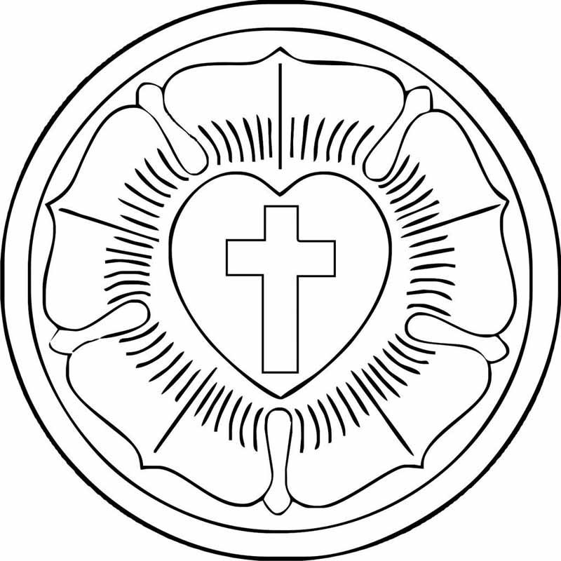 """Evangelischer Kirchenbote: Malvorlage """"Lutherrose"""""""